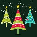Значок рождественских елок Стоковые Фотографии RF