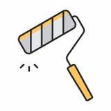 Значок ролика краски Стоковые Фотографии RF