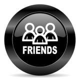 Значок друзей Стоковое Изображение RF