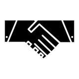 Значок рукопожатия вектор символа регулирования пламени цвета Стоковые Фото