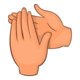 Значок рукоплескания, стиль шаржа иллюстрация вектора