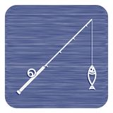Значок рыболовной удочки Стоковое Фото