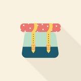 Значок рюкзака плоский с длинной тенью Стоковые Фотографии RF
