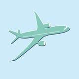 Значок самолета пассажира Стоковые Изображения RF