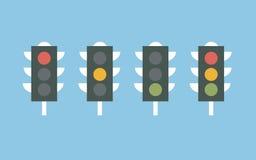 Значок светофоров Плоский дизайн Стоковое Фото
