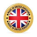 Значок сделанный в Великобритании Стоковое Изображение RF