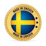 Значок сделанный в Швеции Стоковая Фотография