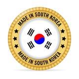 Значок сделанный в Южной Корее Стоковые Изображения