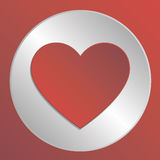 Значок сердца влюбленности Стоковое Фото