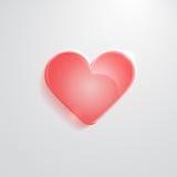 Значок сердца красный стеклянный Стоковое Фото
