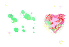 Значок сердца, нарисованные рукой значок и иллюстрации для simbol влюбленности, v стоковое изображение