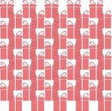 Значок сети подарочной коробки, плоский дизайн картина безшовная вектор Стоковое Изображение