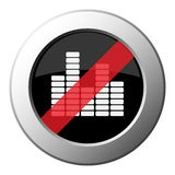 Значок символа выравнивателя - кнопка металла запрета круглая иллюстрация штока