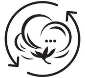 Значок символа хлопка бесплатная иллюстрация