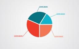 Значок символа статистики долевой диограммы диаграммы Стоковое Изображение