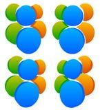 Значок, символ с 3 персоной/характерами Икона людей Стоковые Изображения