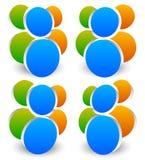 Значок, символ с 3 персоной/характерами Икона людей Стоковое Изображение RF