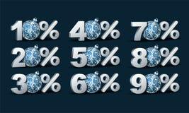 Значок скидки процентов Стоковая Фотография