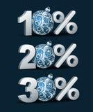 Значок скидки процентов Стоковые Изображения RF