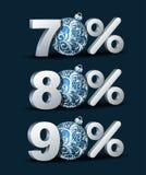 Значок скидки процентов Стоковое Изображение