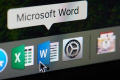 Значок слова Майкрософт Офис Стоковые Изображения RF