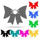 Значок смычка Элементы романс в multi покрашенных значках Наградной качественный значок графического дизайна Простой значок для в иллюстрация штока