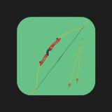 Значок смычка Archery Стоковая Фотография