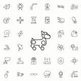 значок собаки робота Комплект значков новых технологий всеобщий для сети и черни бесплатная иллюстрация
