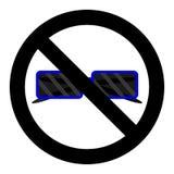 Значок солнечных очков запрета иллюстрация штока