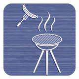 Значок сосиски барбекю Стоковое Фото