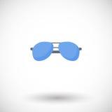 Значок солнечных очков плоский Стоковые Изображения RF