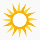 Значок Солнця Стоковое Изображение RF