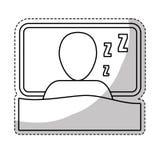Значок спать человека Стоковое Изображение RF