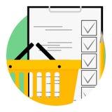 Значок списка покупок, иллюстрация вектора бесплатная иллюстрация