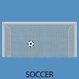 Значок спорта футбола плоский Стоковая Фотография RF