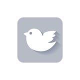 Значок средств массовой информации ультрамодной птицы twitter социальный Стоковые Изображения RF