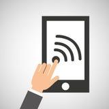 Значок средств массовой информации wifi app Smartphone социальный иллюстрация штока