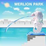 Значок статуи Merlion вектора eps10 Сингапура Стоковая Фотография RF