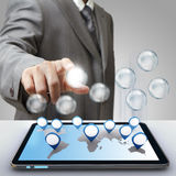 Значок стекла диаграммы успеха в бизнесе Стоковое Изображение