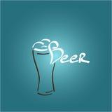 Значок стекла пива, иллюстрация Стоковая Фотография