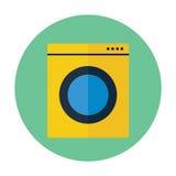 Значок стиральной машины плоский Стоковое Изображение
