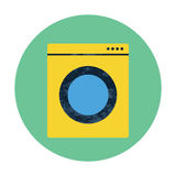 Значок стиральной машины плоский Стоковое Изображение RF