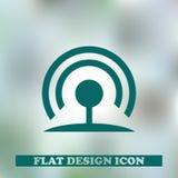 Значок стиля символа RSS плоский также вектор иллюстрации притяжки corel Стоковое Изображение RF
