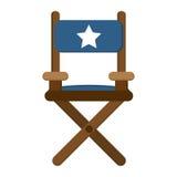 Значок стула директора Стоковое Изображение