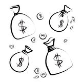 Значок сумки денег Иллюстрация вектора
