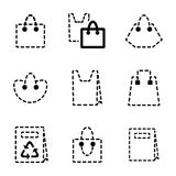 Значок сумки Стоковые Фотографии RF