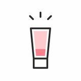 Значок съемки коктеиля Стоковые Изображения RF