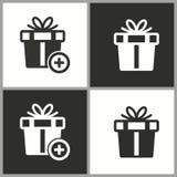 Значок сюрприза подарочной коробки вектора Стоковые Фото