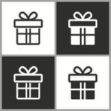 Значок сюрприза подарочной коробки вектора Стоковые Изображения