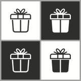 Значок сюрприза подарочной коробки вектора Стоковое Изображение RF